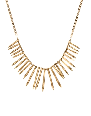 Kasturjewels | Kasturjewels Statement Spike Drop Necklace at ASOS