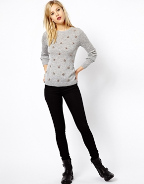 A Wear | A Wear Embellished Front Sweater at ASOS