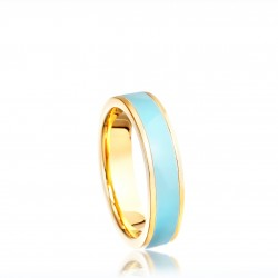 Duck egg blue enamel ring