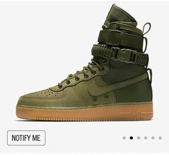 nike air force 1 high top olive green