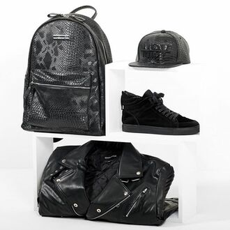 bag maniere de voir backpack rucksack snake embossed black python