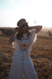 mesvoyagesàparis,blogger,t-shirt,skirt,shoes,jewels