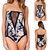 Sexy Women Strapless Mesh Vest One Piece Bikini Beach Swimwear Monokini Bathing