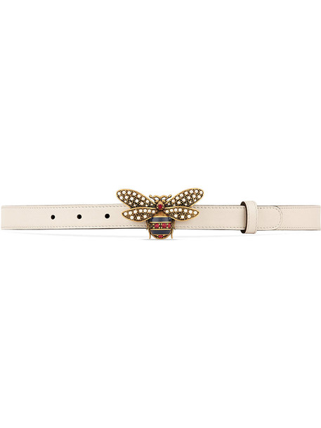 belt leather white