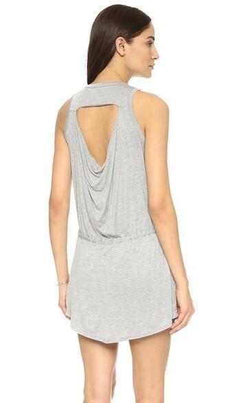dress mini dress mini back grey heather grey