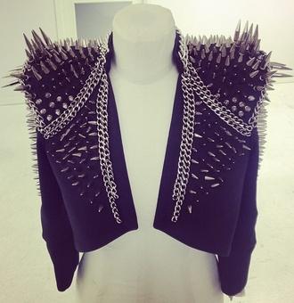 jacket spikes spiked moto jacket spiked leather jacket black jacket