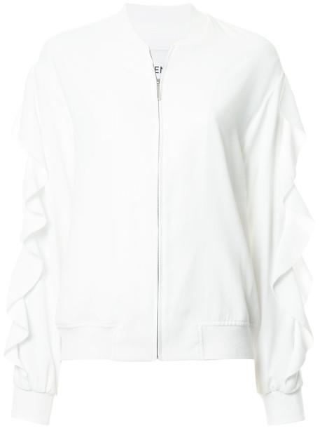 GOEN.J jacket ruffle women white