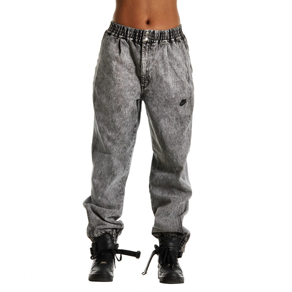demin acid wash joggers denim