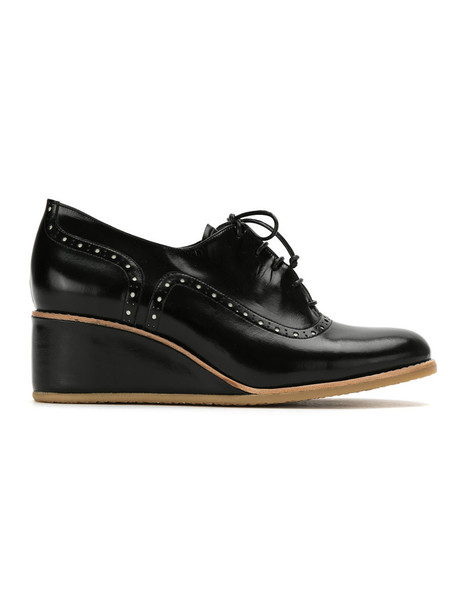 Sarah Chofakian heel women oxfords black shoes
