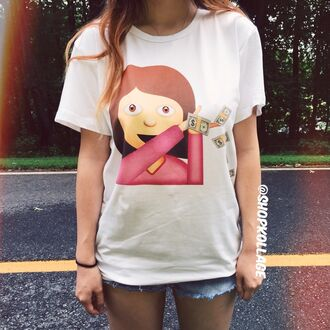 shirt quote on it cute t-shirt emoji print style graphic tee tumblr top casual