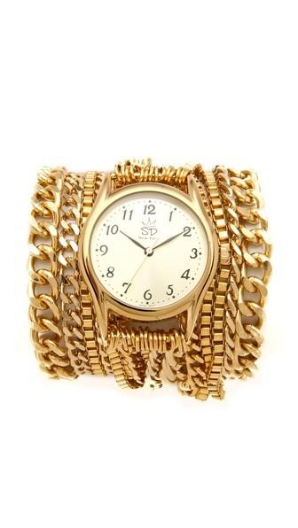 Sara designs gold wrap watch