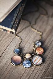 jewels,necklace,universe,planets,jewelry,Accessory,space,cool
