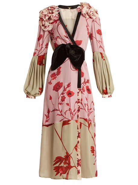 Johanna Ortiz dress floral print silk pink
