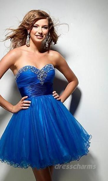 dress blue blue dress prom dress sequins sequin dress short dress homecoming homecoming dress formal sweetheart dress sweetheart neckline brunette formal dress formal event outfit