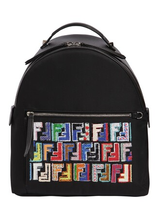 backpack sequins black bag
