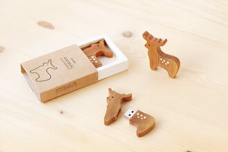 home accessory deer wood cute hipster technology rennes usb flash drive