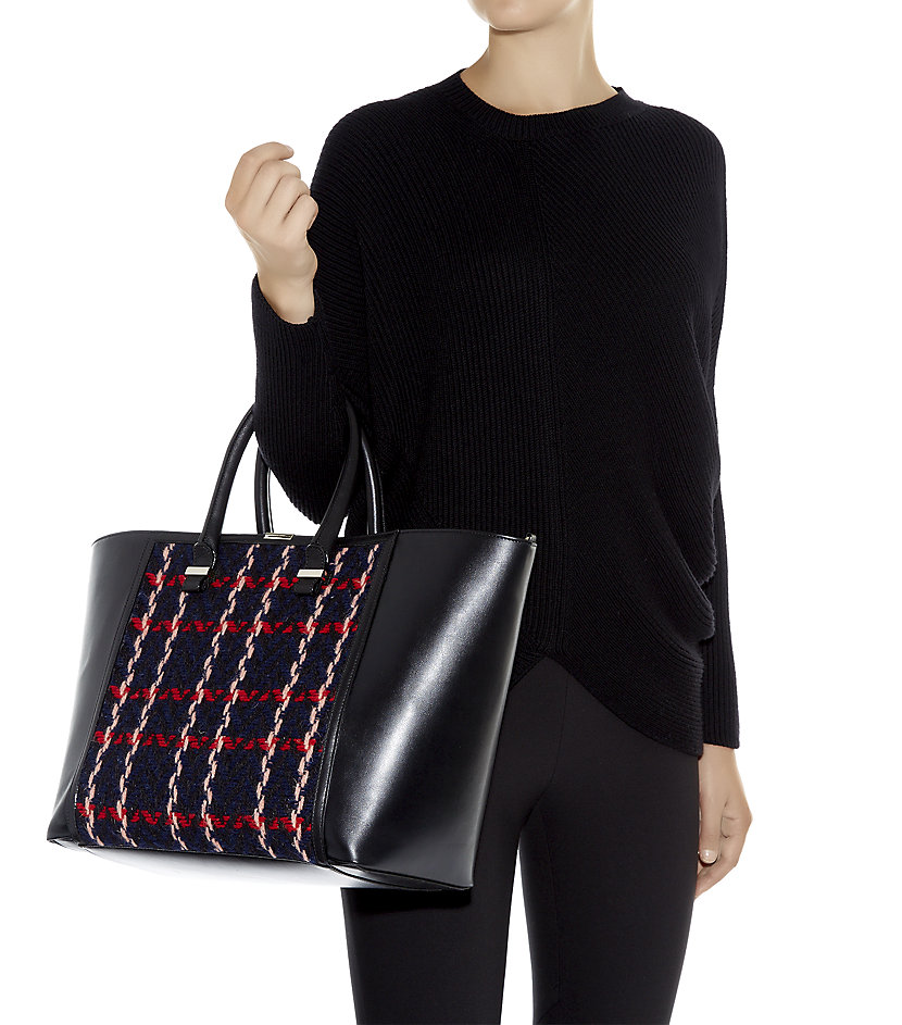 Victoria Beckham Tweed Liberty Tote