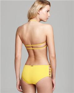 Michael kors byzance ring side bandeau bikini in white size 4 $234 00