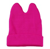 hat,cats,meow,cat ear beanie,pink,dark pink,hot pink,fashion hats,cute hats,nice hats,cute beanies,new beanies,meow hat,cat ears,beanie,fuschia,colorful hats