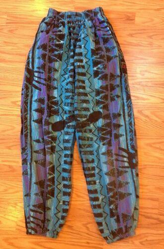 pants tribal pattern parachute parachute pants pants parachute tribal print printed pants print cute cute pants