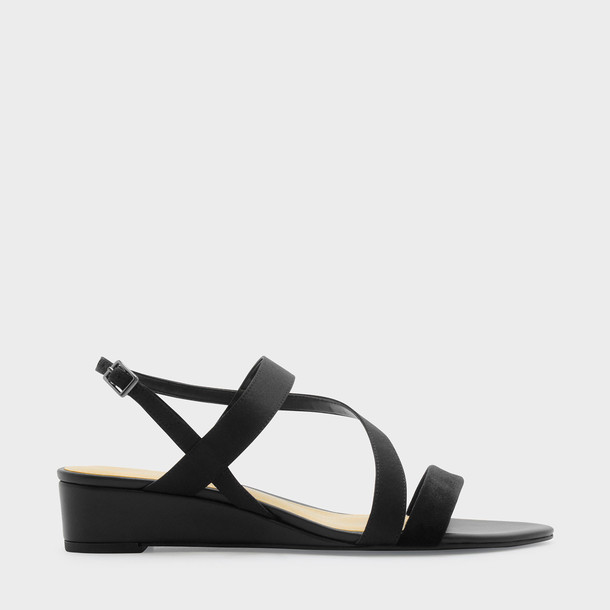strappy sandals wedge sandals black shoes
