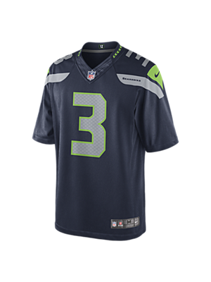 The NFL Seattle Seahawks (Russell Wilson) Men's Football Home Limited Jersey.