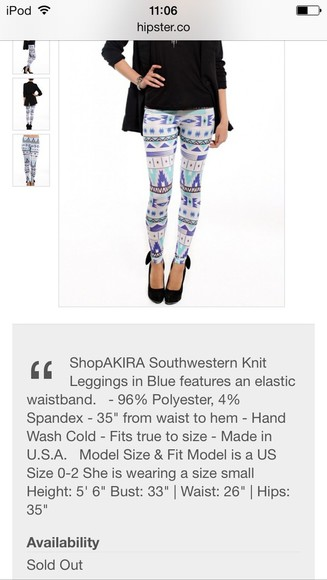 black print white pants bleu leggings aztec knit leggings aztec print southwestern