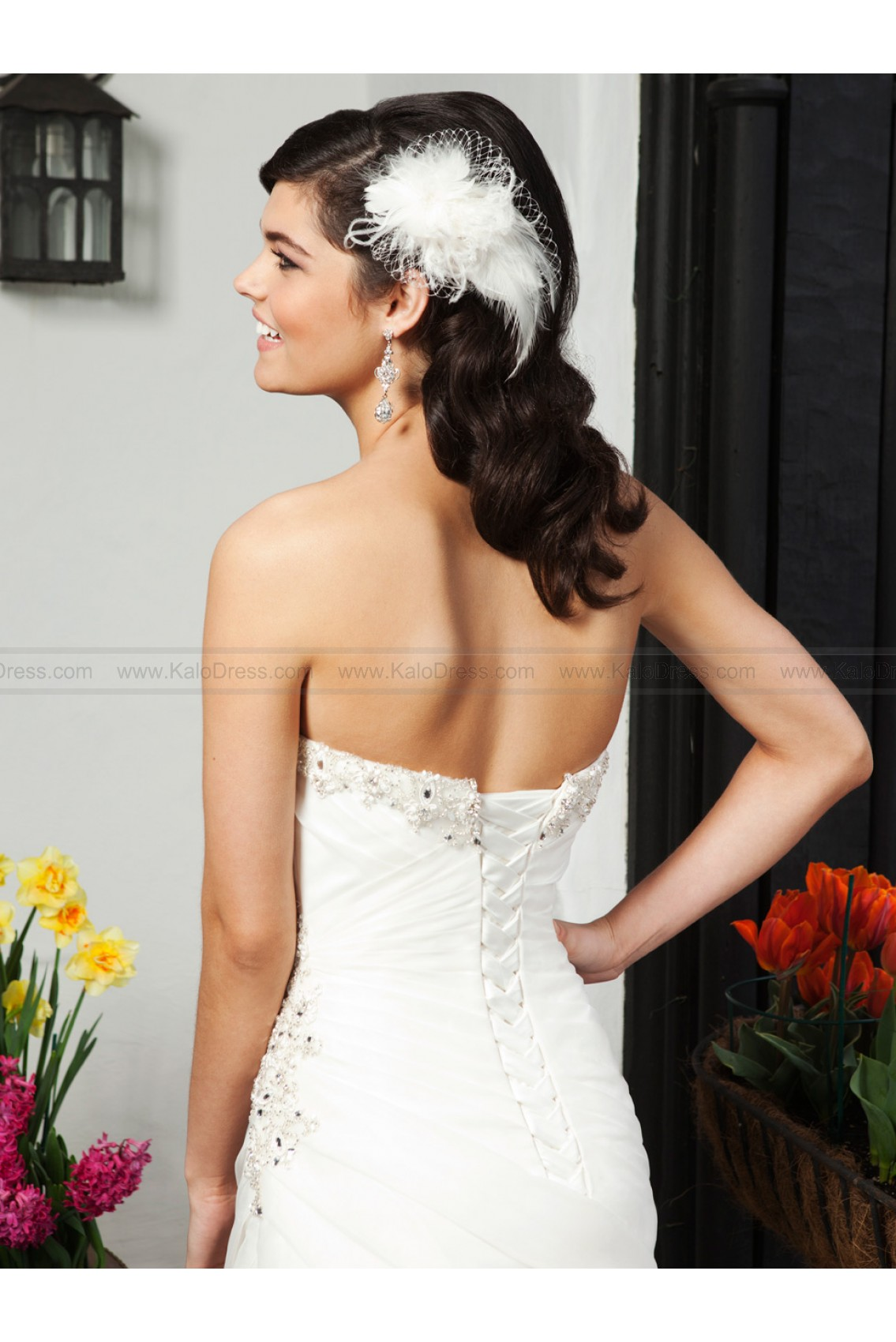 Strapless Sweetheart Beaded Accented A-line Bridal Dress by Sincerity 3726 - Informal Wedding Dresses