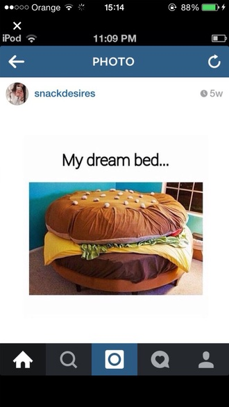 home accessory room bed hamburger