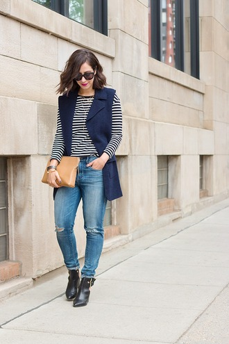 adventures in fashion blogger jacket shirt jeans shoes bag sunglasses jewels