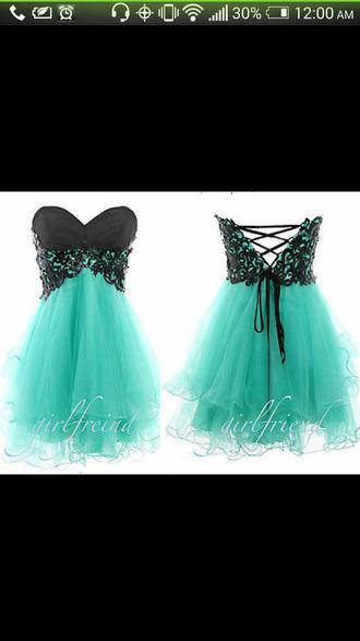 dress mint little black dress homecoming dress