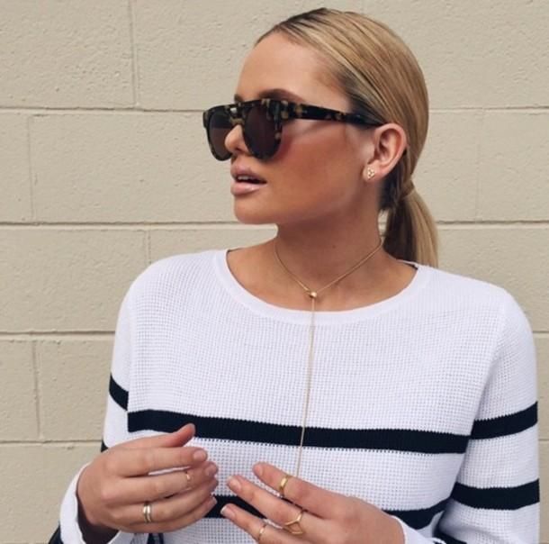 sweater alli simpson glasses sunglasses