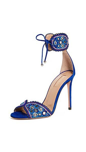 Aquazzura sandals blue shoes