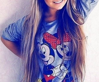 t-shirt mickey mouse mouse minnie shirt grey cute mickey mouse sweater minnie mouse