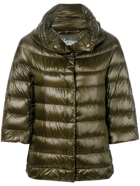 Herno jacket women cotton green