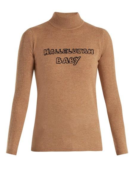 Bella Freud sweater baby wool beige
