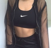 jacket,mesh,sportswear,basketball shorts,nike bra,sports bra,transparent,sports jacket,black mesh,all black everything,black jacket,style,top,nike sportswear,black,clear,cute,idk,bomber jacket,transparent jacket