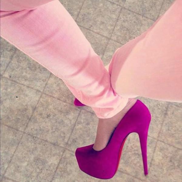 purle pumps heels platforms pumps high heels red sole shoes suede pumps suede pumps