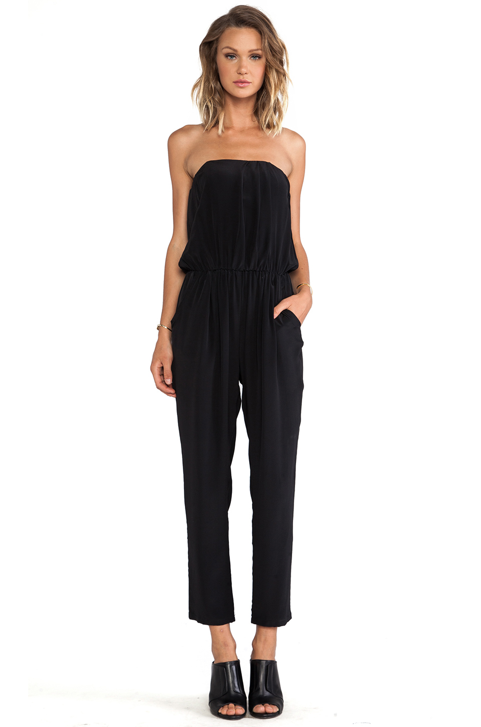 Helena Quinn Strapless Jumpsuit in Black from REVOLVEclothing.com