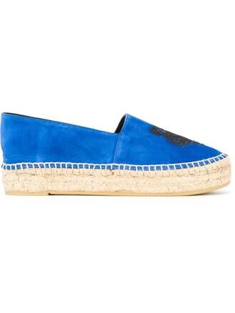 tiger espadrilles blue shoes