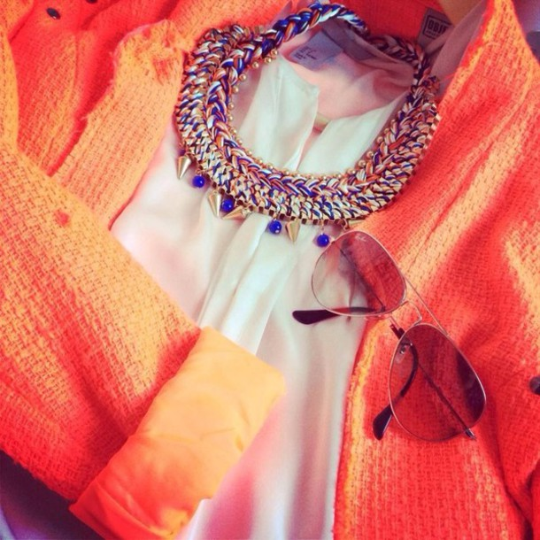 jacket orange holland summer summer outfits