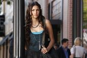 jewels,choker chain,chain,the vampire diaries,nina dobrev,choker necklace,thin chain,tank top,blouse,top,hair accessory,dress,shirt,katherine pierce,outfit,style