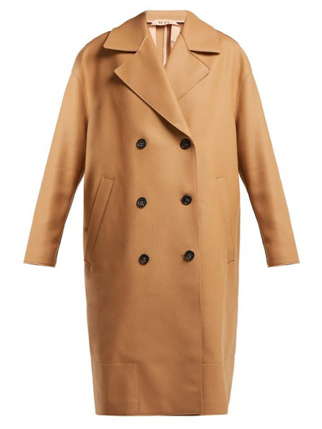 No. 21 - Double Breasted Wool Blend Coat - Womens - Camel