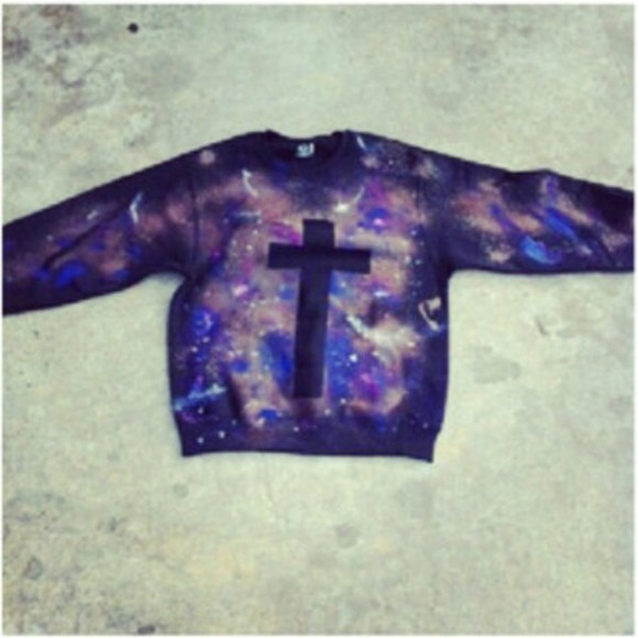 black sweater cross galaxy sweater cross galaxy purple galaxy sweater