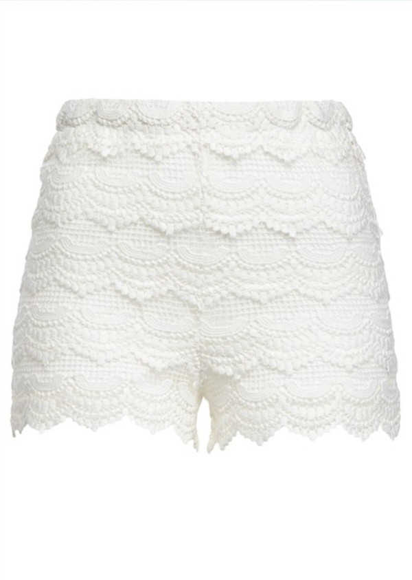 shorts white lace shorts