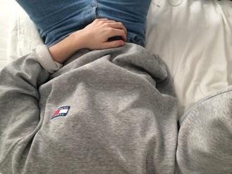 sweater grey sweater tommy hilfiger grey aesthetic grunge pale pale grunge tommy hilfiger shirt