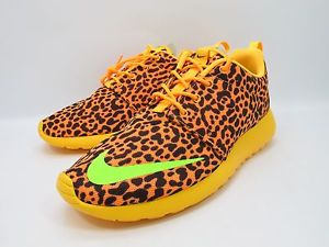 DS 2013 Nike Rosherun FB Citrus Orange Leopard 580573 838 NSW Sz 9 5 | eBay