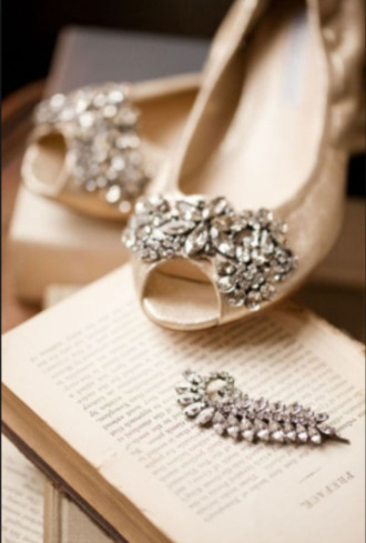 shoes flats open toes embellished nude