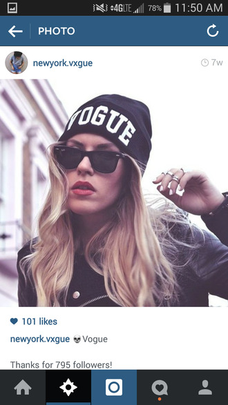 hat black beanie vogue