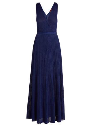 dress maxi dress maxi metallic knit blue